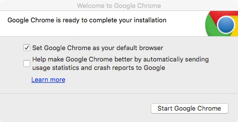 Disable Welcome to Google Chrome - Dialog window